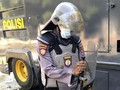 Demo Mahasiswa di Kendari, Polisi Kena Lempar Kotoran Hewan