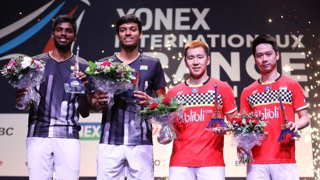 Kevin/Marcus akan menghadapi Satwiksairaj/Shetty di semifinal Fuzhou China Open. Berikut fakta menarik jelang duel tersebut.