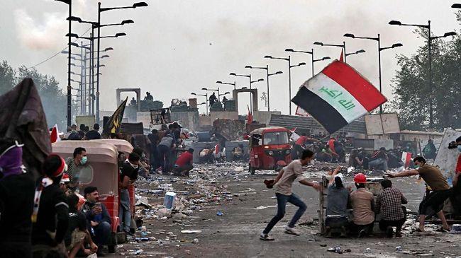 Demonstran Irak khawatir konflik antara Amerika Serikat dan Iran akan membuat tuntutan mereka terlupakan.