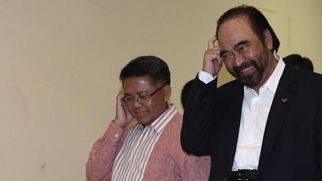 Presiden PKS Sohibul Iman kembali bertemu dengan Ketua Umum NasDem Surya Paloh. Kali ini giliran Sohibul Iman yang mendatangi kantor NasDem.