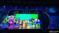 Acara Pinkfong Baby Shark Live Musical diselenggarakan di Hall Basket Gelora Bung Karno (GBK), Jakarta, Jumat (1/11/2019). Meriah banget! (Foto: Yuni Ayu Amida) <br /><span class=