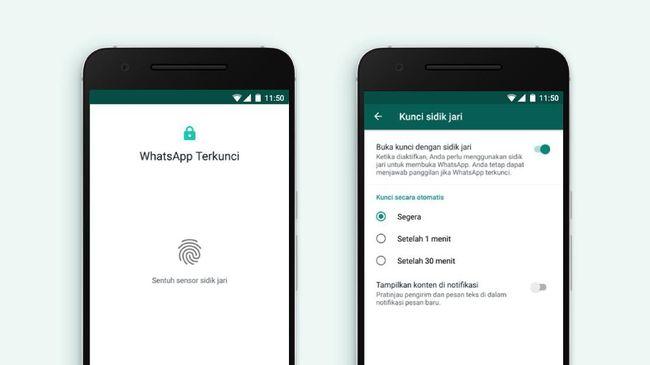 Dengan mengaktifkan fitur ini, maka akses membuka WhatsApp dikendalikan pemilik ponsel sepenuhnya. Berikut cara mengaktifkan fitur sidik jari di WhatsApp.