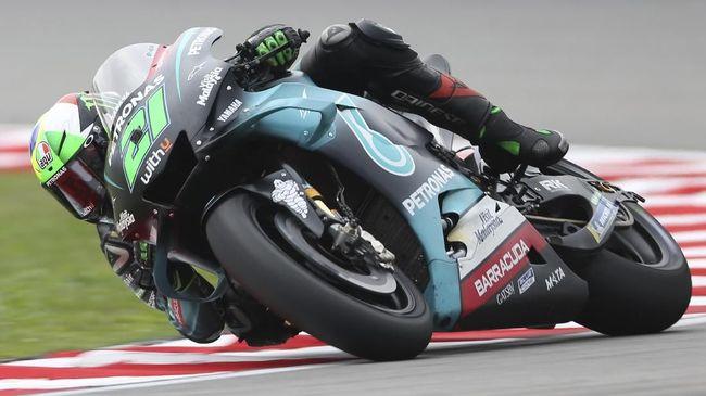 Franco Morbidelli jadi yang tercepat pada FP3 MotoGP Ceko, sedangkan Valentino Rossi kelima di Sirkuit Brno, Sabtu (8/8).