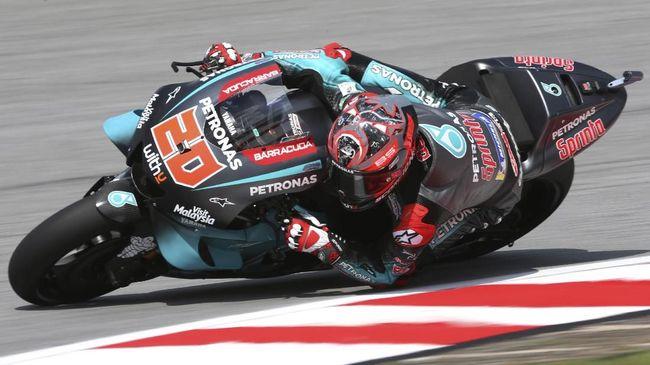 Fabio Quartararo menjadi yang tercepat pada latihan bebas pertama (FP1) MotoGP Catalunya 2020 dengan mengalahkan Andrea Dovizioso.