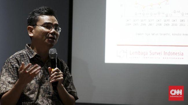 Survei SMRC yang disampaikan Direktur Eksekutif LSI, Djayadi Hanan menyebut ketakutan publik berekspresi dan berorganisasi naik di era Jokowi.