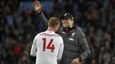 Sempat tertinggal lebih dulu dari Aston Villa, Liverpool baru mampu mencetak gol pada menit-menit akhir pertandingan di Stadion Villa Park, Sabtu (2/11).