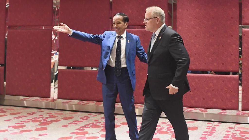 Bertemu PM Australia di Bangkok, Jokowi Cerita Hasil Kunker ke Papua