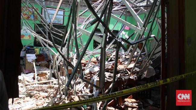 Polisi Sebut SDN Ambruk di Pasuruan karena Konstruksi Ngawur