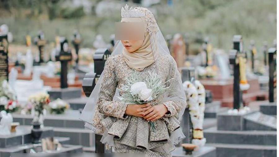 Foto Prewedding di Pemakaman, Calon Pengantin Ini Tuai Hujatan
