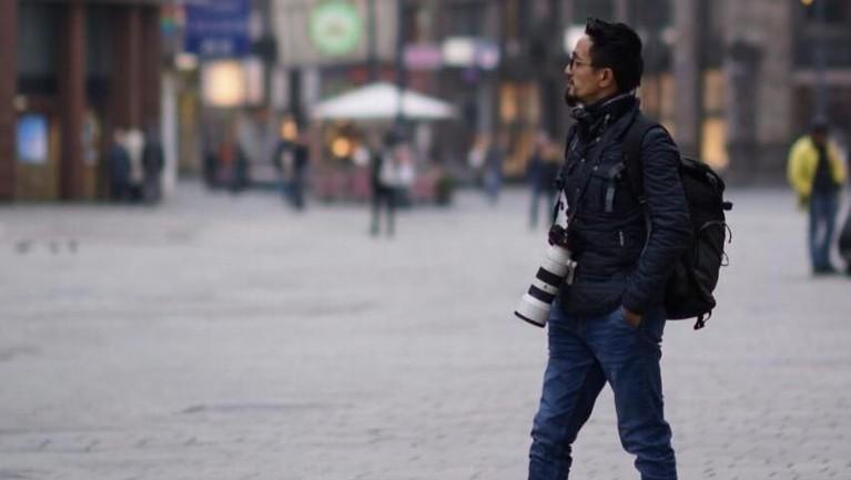 Penampilan Ricky di Burgenland, Austria. Jika dilihat dari beberapa unggahannya di Instagram Ricky tampaknya menyukai fotografi.