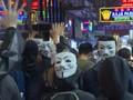 VIDEO: Topeng 'V  for Vendetta', Simbol Demonstran Hong Kong