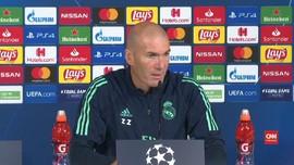 VIDEO: Zidane Tak Senang Bale Absen di Liga Champions