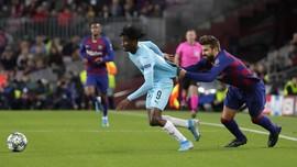 Barcelona vs Slavia Praha Imbang di Babak Pertama
