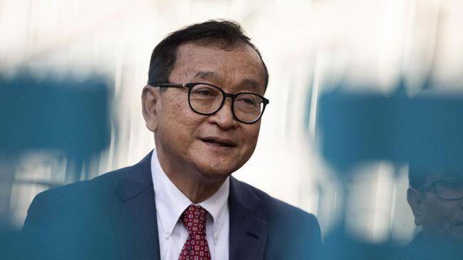Pengadilan Kamboja menjatuhkan vonis 25 tahun penjara bagi tokoh oposisi, Sam Rainsy, dalam kasus makar.
