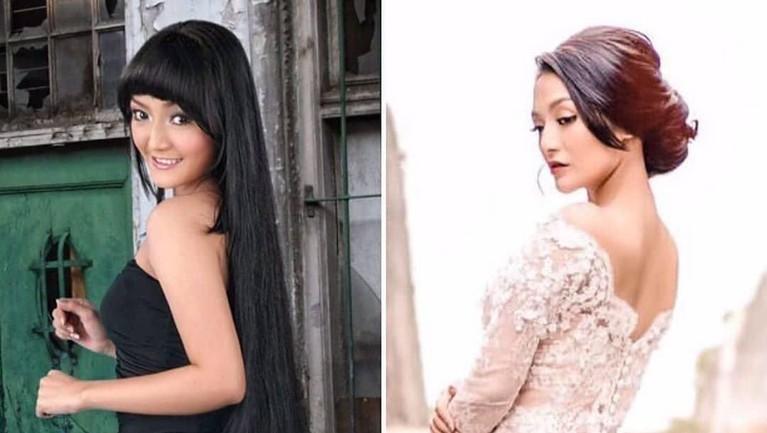 Siti Badriah. Dulu berambut panjang Siti Badriah kini merubah penampilannya menjadi lebih dewasa.