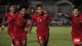 FOTO: Timnas Indonesia U-19 Taklukkan Timor Leste