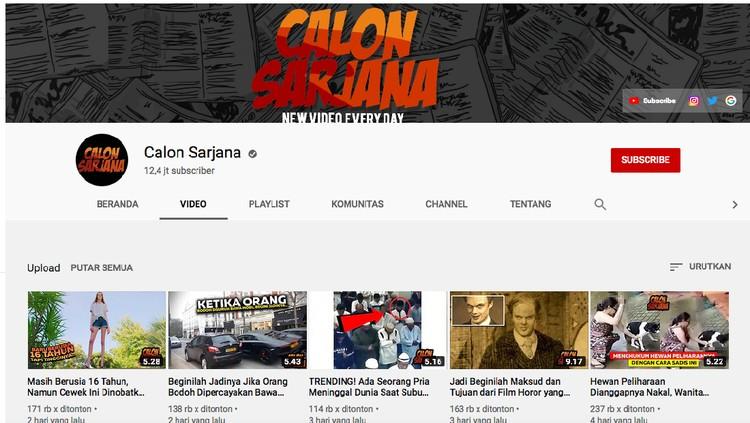 Akun YouTube Calon Sarjana ternyata plagiat konten YouTuber asing. Kok bisa sih?