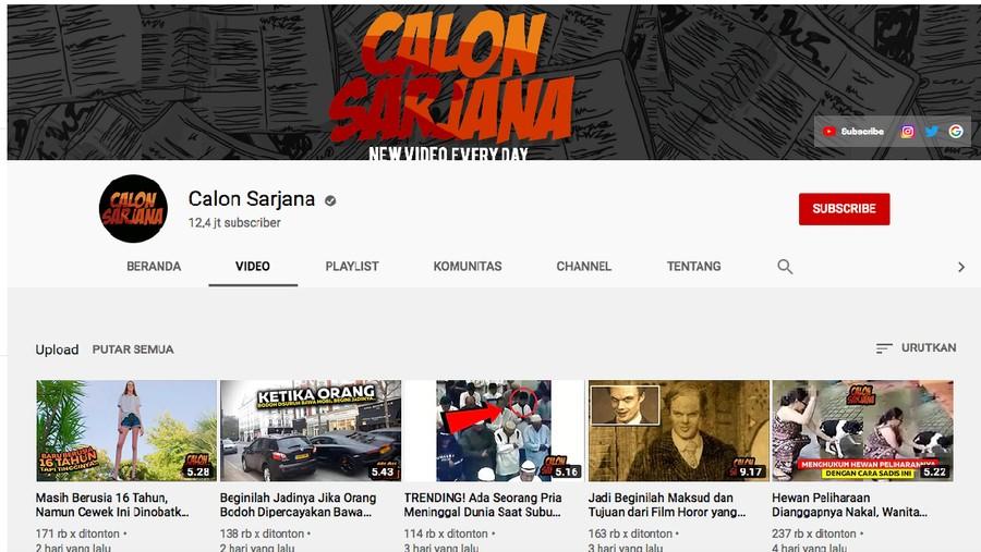 Enggak Sangka, 'Calon Sarjana' Plagiat Konten YouTuber Asing
