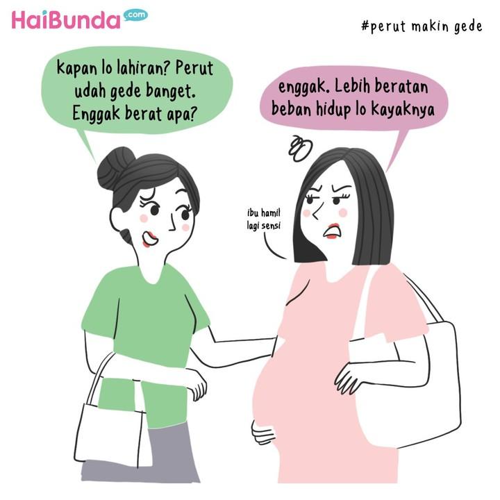 Ini keluhan Bunda di komik ini saat hamil tua. Kalau Bunda gimana? Apa keluhan yang dirasa dan mengganggu banget? Share di kolom komentar ya.