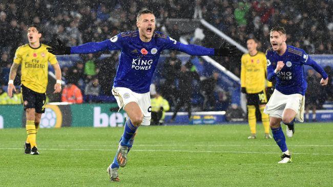 Leicester City mengalahkan Arsenal 2-0 pada laga pekan ke-12 Liga Inggris 2019/2020 di Stadion King Power, Sabtu (9/11) malam waktu setempat.