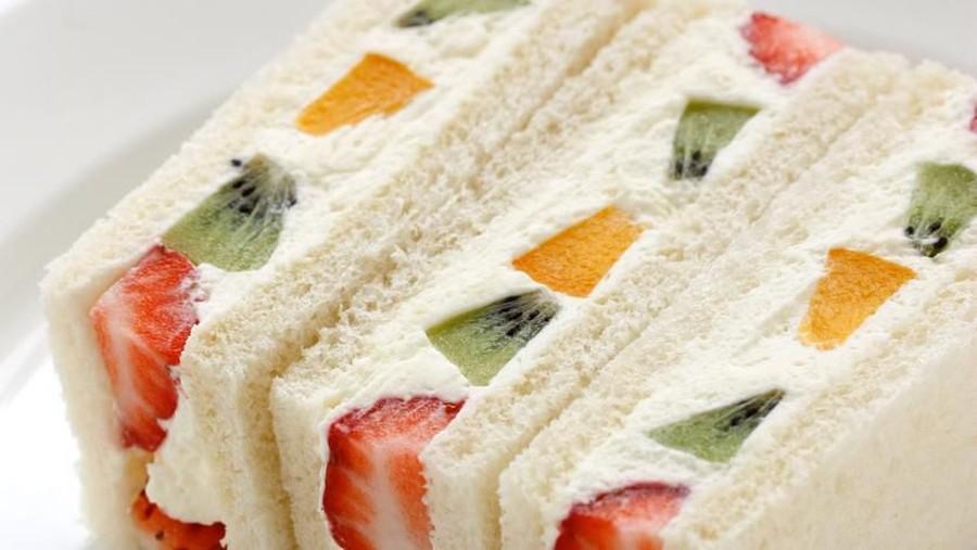 Resep Bekal Sekolah Anak, Japanese Fruit Sandwich Lezat & Praktis