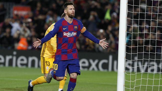Kapten Barcelona Lionel Messi melampaui rekor Cristiano Ronaldo usai mencetak tiga gol ke gawang Real Mallorca di Liga Spanyol.