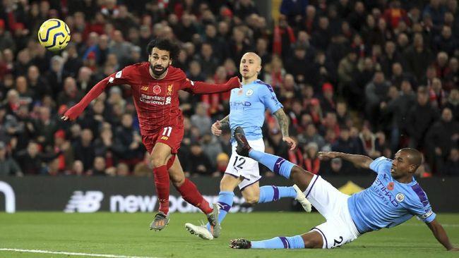Liverpool menekuk Manchester City 3-1 pada laga Liga Inggris 2019/2020 pekan 12 di Stadion Anfield, Minggu (10/11).