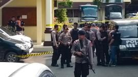 FOTO : Kondisi Polrestabes Medan Pasca-Ledakan Bom Bunuh Diri