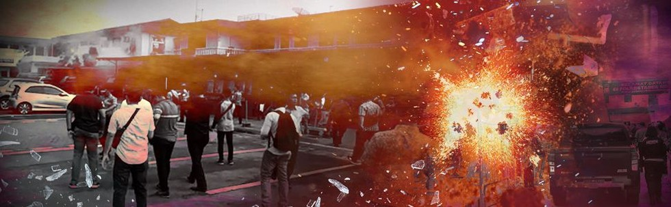 Ledakan di Mapolrestabes Medan