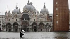Hujan Deras Picu Banjir 1,9 Meter di Venesia