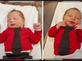 VIDEO: Hari Cardigan, Bayi Berdandan Khas Mr Rogers