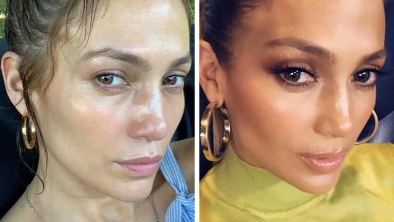 Deretan artis wanita Hollywood ini berani mengunggah foto di laman media sosial tanpa mengenakan make-up. Penasaran?