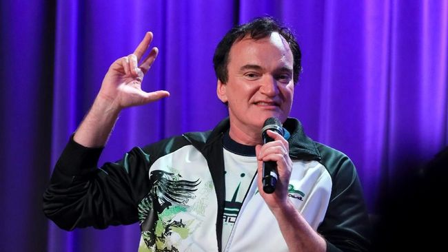 LOS ANGELES, CALIFORNIA - OCTOBER 02: Quentin Tarantino speaks onstage at Once Upon A Time In Hollywood: An Evening With Quentin Tarantino & Friends at the GRAMMY Museum on October 02, 2019 in Los Angeles, California.   Rebecca Sapp/Getty Images for The Recording Academy /AFP