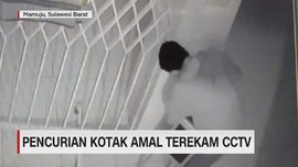 VIDEO: Pencurian Kotak Amal di Masjid Terekam CCTV