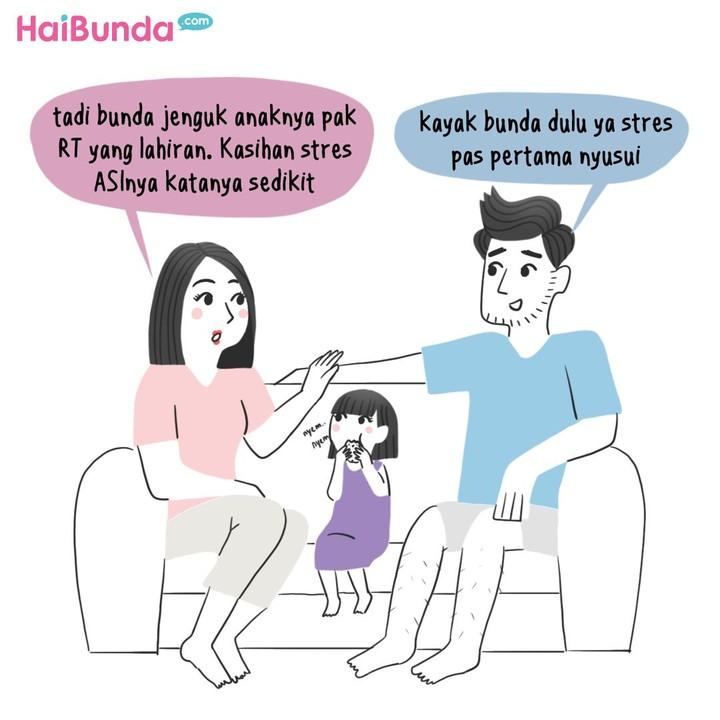 Berbagai tantangan dialami Bunda di komik ini saat menyusui kakak yang baru lahir. Kalau Bunda, apa tantangan yang dialami? Share yuk di kolom komentar.