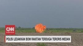VIDEO: Polisi Ledakkan Bom Rakitan Terduga Teroris Medan