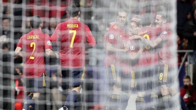 Timnas Spanyol unggul telak 4-0 atas timnas Rumania di babak pertama dalam laga lanjutan Kualifikasi Piala Eropa 2020.
