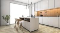 <p>Konsep interior minimalis mengandalkan kekuatan cahaya dan lampu. Seperti pada dapur ini di mana lampu kabinet memberikan sentuhan hangat pada ruangan. (Foto: iStock)</p>