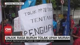 VIDEO: Unjuk Rasa Buruh Tolak Upah Murah