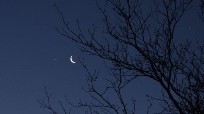 bintang kejora, venus, jupiter langit malam