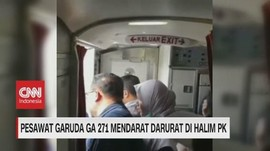 VIDEO: Pesawat Garuda GA 271 Mendarat Darurat di Halim