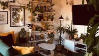 <div>Kalau ruang keluarga yang satu ini penuh dengan tanaman. Mulai dari tanaman yang besar hingga yang kecil-kecil. Bunda bisa nih menjadikan rak bertingkat di ruangan ini sebagai inspirasi untuk meletakkan pot bunga kecil. (Foto: Instagram @my.lvngrm)</div><div></div>