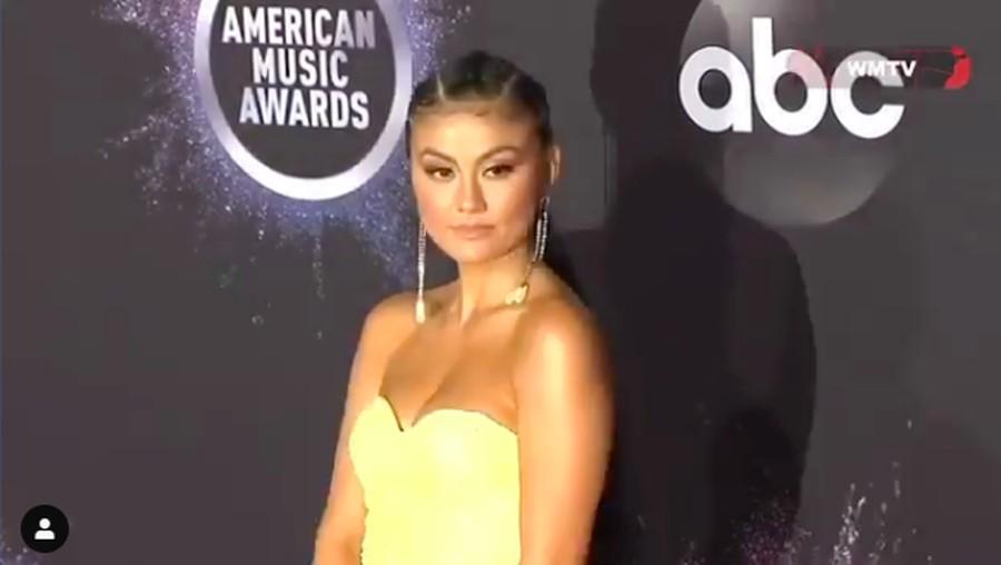 Gaun Kuning Transparan Agnez Mo di Karpet Merah AMA 2019