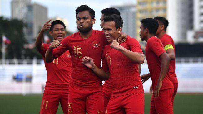 Timnas Indonesia U-23 menghadapi Brunei Darussalam di pertandingan keempat Grup B SEA Games 2019 di Stadion Binan, Selasa (3/12).