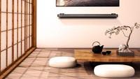 Bunda juga bisa coba ruang tamu tanpa sofa bertema Jepang seperti ini. Menggunakan pintu geser dan alas duduk ala Jepang, membuat ruangan ini nampak hangat. (Foto: Instagram @homedecormalaysia)