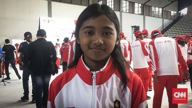 Atlet termuda kontingen Indonesia untuk SEA Games 2019 adalah Kyandra Kailana Susanto yang baru berusia 10 tahun.