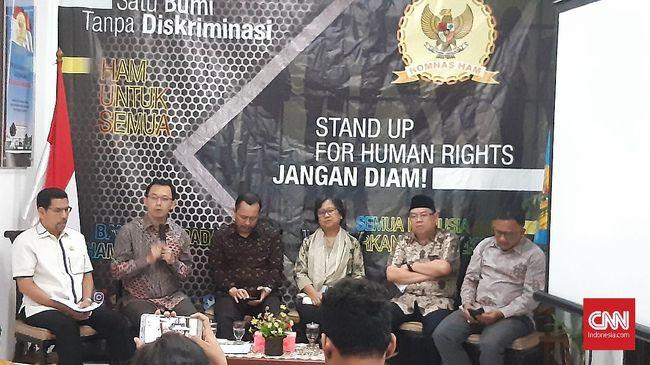 Komnas HAM merekomendasikan Polri melakukan penegakan hukum terhadap anggotanya yang terbukti melanggar HAM saat demo mahasiswa.