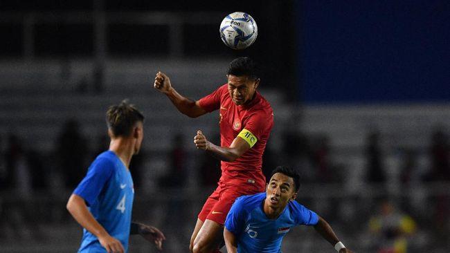 Sisi buruk Timnas Indonesia U-23 muncul saat melawan Singapura di pertandingan kedua di Grup B SEA Games 2019 di Stadion Rizal Memoriam, Kamis (28/11).