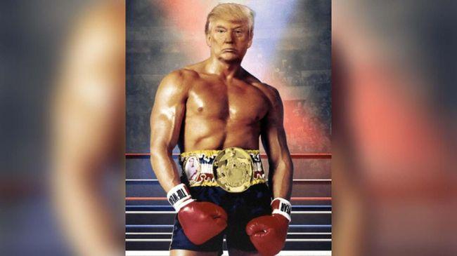 Presiden AS, Donald Trump, mendadak mengunggah sebuah gambar seolah menjadi petinju setelah diterpa rumor soal kesehatan.
