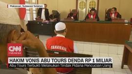 VIDEO: Hakim Vonis Abu Tours Denda Rp 1 Miliar